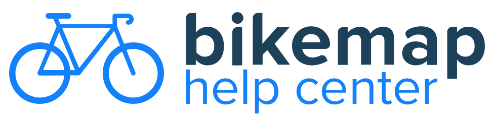 Bikemap Help Center Help Center home page