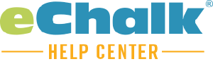 eChalk Help Center Help Center home page