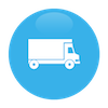 Shipping and delivery of orders icon