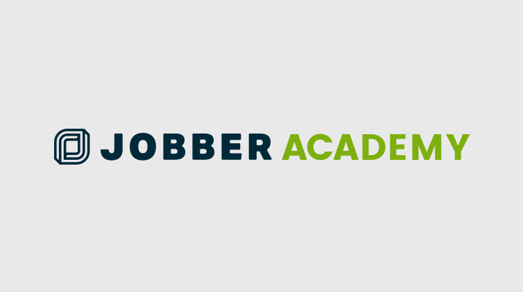 Jobber Academy logo on a grey background
