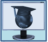 Globe with graduation cap