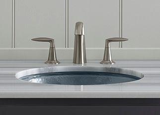 KOHLER - One piece bathroom sink faucet