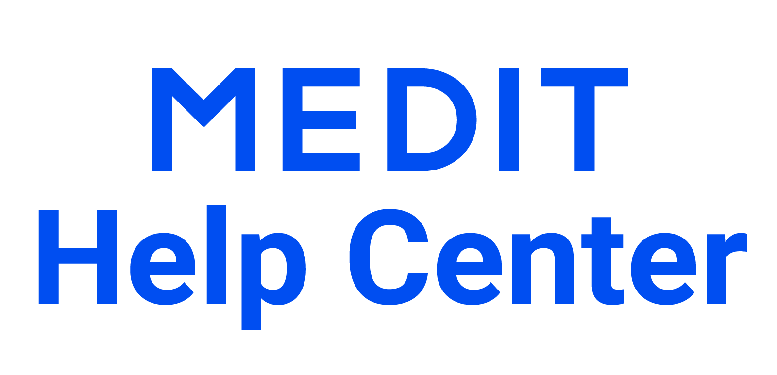 "Homepage für Help Center ""Medit Help Center"""