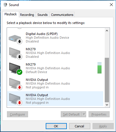 Nvidia HDMI Audio Issues – Cloud Imperium Games Knowledge Base