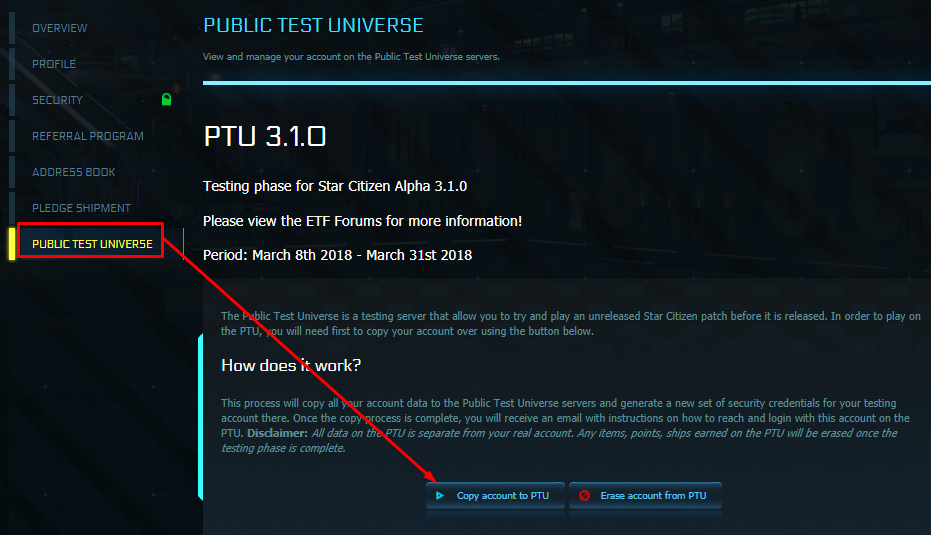 ptu star citizen