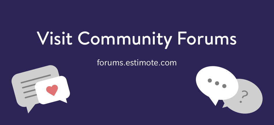 Visit Community Forums: forums.estimote.com