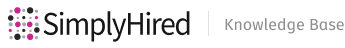 SimplyHired Help Center home page