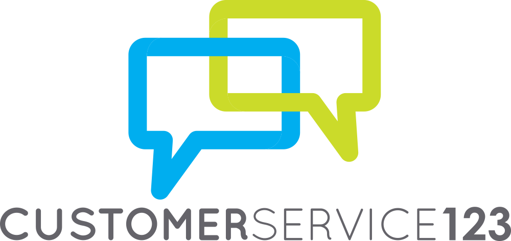 customer service 123 logo