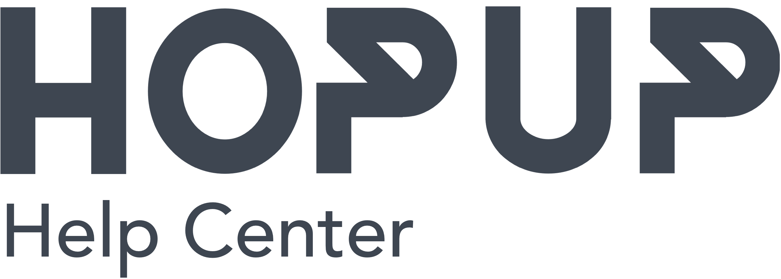 HopUp Help Center home page
