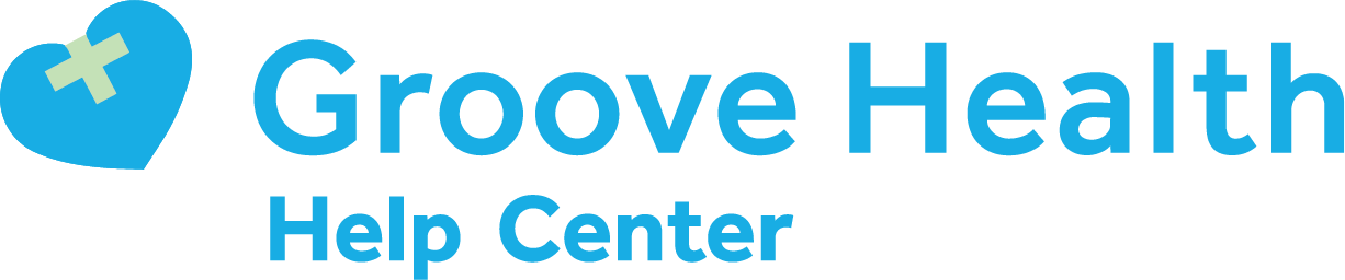 Groove Health Help Center home page