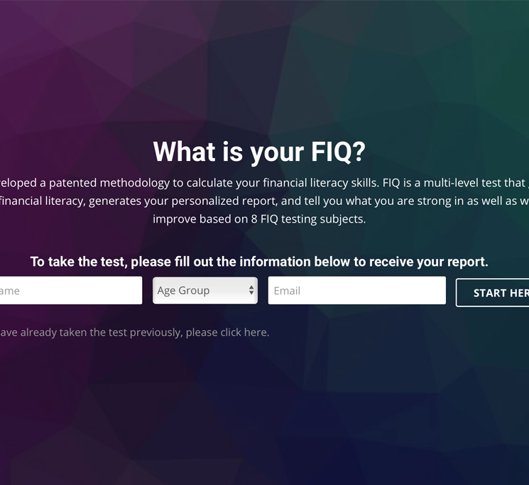 click on the FIQ Test